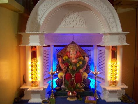home ganpati decoration the gallery for gt simple ganpati decoration ideas at home