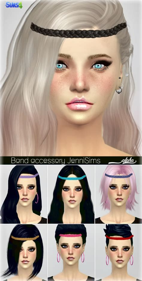 big bow hair accessory at jenni sims 187 sims 4 updates jennisims downloads sims 4 new mesh accessory hair band