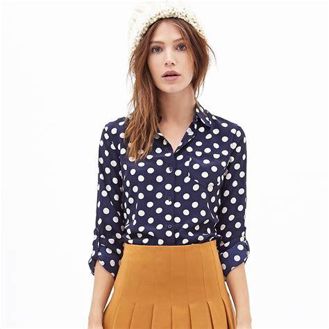 Reyn Shop Blouse Mimi Top Navy white polka dot blouses blouse styles