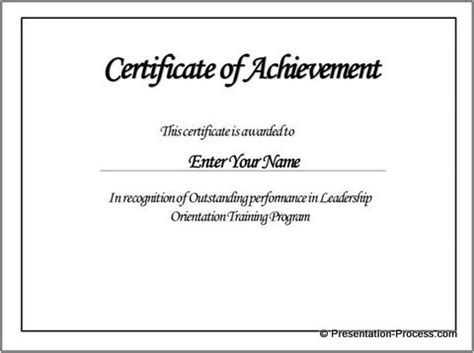 Create Printable Certificates In Powerpoint In A Jiffy Powerpoint Certificate Of Achievement Template