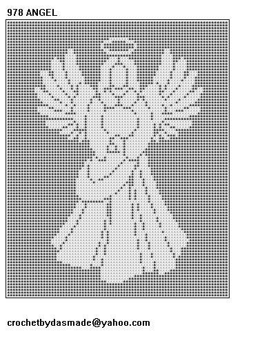 978 Angel Filet Crochet Doily Afghan Tablecloth Pattern