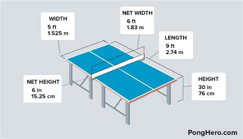standard pong table size ping pong table dimensions