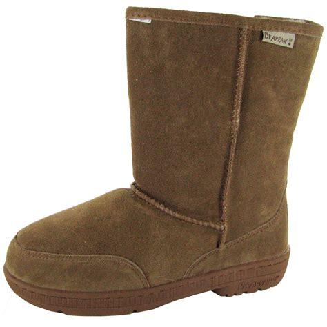 bearpaw boots bearpaw womens meadow 8 inch suede sheepskin boot ebay