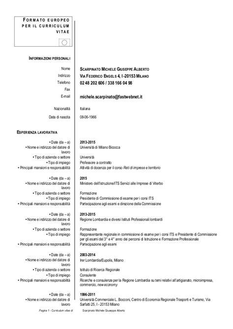cv europeo 2015 b cv europeo michele scarpinato 2 09 2015