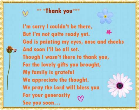 Thank You For Baby Shower Gift Poem by Baby Shower Thank You Poems From Unborn Baby Hubpages