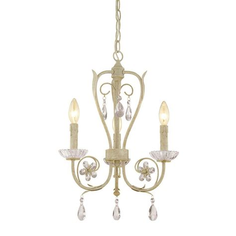 Millennium Lighting 3 Light Antique White Candle Candle Chandelier Home Depot