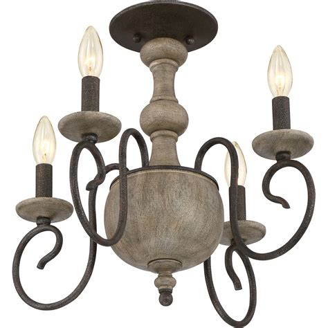 rustic semi flush mount lighting quoizel castile rustic black 18 inch four light semi flush