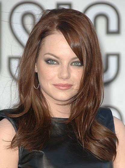 emma stone face shape find the best haircut for round face healthy hair