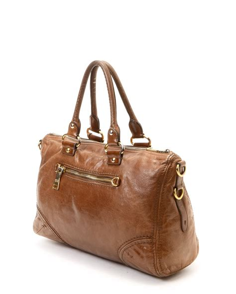 Which It Bag Are You 2 by Lyst Prada Two Way Bag Vintage In Brown