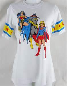 Womens juniors dc comics superhero batman wonder woman t shirt size s