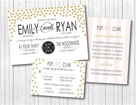 new year card wording new year s modern confetti wedding invitation