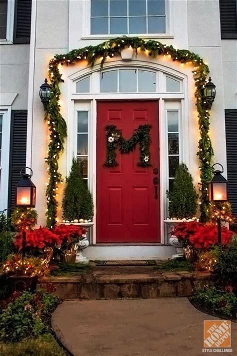 decorating doors for celebratlons door decorating ideas for your small porch the home depot curb appeal display and