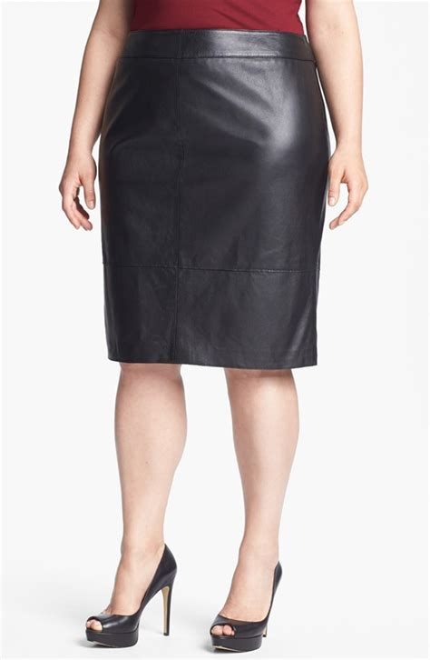 leather skirts for plus sized 2018