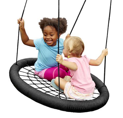 monster web swing swing n slide 174 launches the monster web swing
