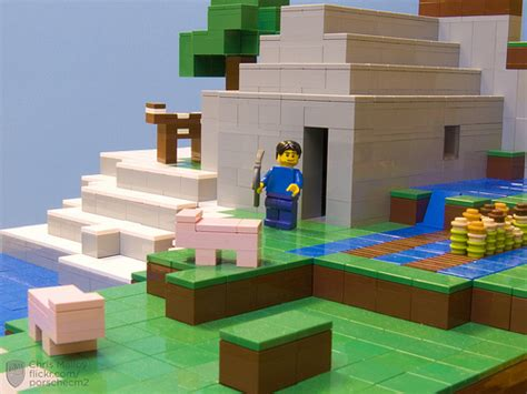 Minecraft Lego House by Minecraft In Lego Blocks To Bricks The Brothers Brick