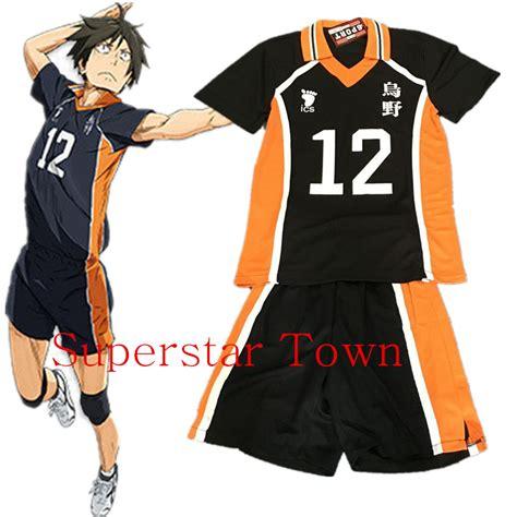 T Shirt Anime Haikyuu Karasuno Club haikyuu karasuno high school tadashi yamaguchi jerseys costume number 12 t shirt