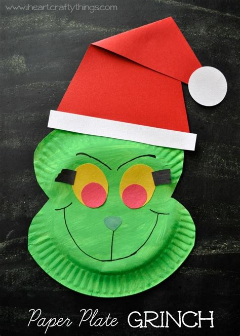 dr seuss paper plate craft paper plate grinch craft the grinch stole dr