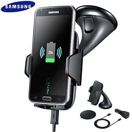 samsung qi wireless charging car holder  charger black