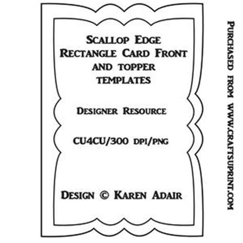 scalloped edge large with point card template scallop edge stepper card template cup321940 168