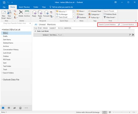 Email Search Uk Search For Messages In Outlook 2016 For Windows