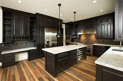 kitchen floor and counter tops with pine cabinets kitchen custom home traditional kitchen dc metro by