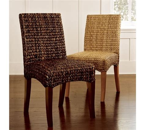 seagrass side chair pottery barn dining room tables pottery barn