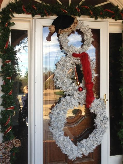 Diy Wreaths For Front Door Snowman Front Door Wreath Diy