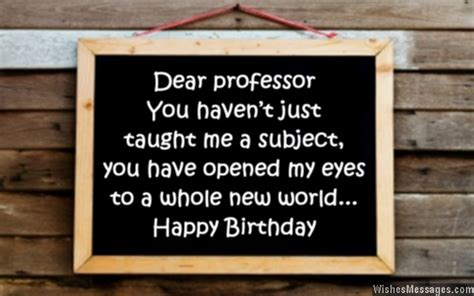 Happy Birthday Wishes To Professor Birthday Wishes For Professors Wishesmessages Com