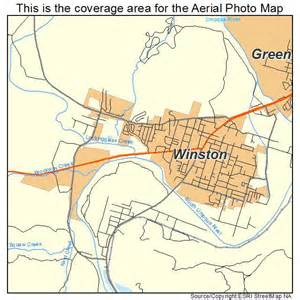 aerial photography map of winston or oregon