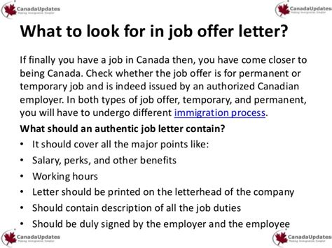 Offer Letter For Visa Canada find in canada