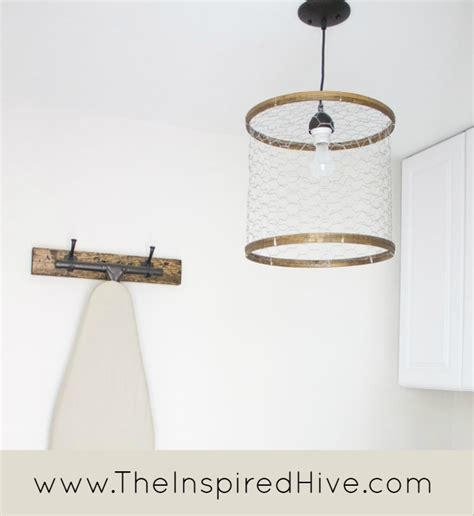 wire a light fixture kitchen diy chicken wire light fixture decor10