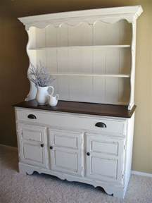 Antique White Desk With Hutch White Hutch With Dark Top For The Home Pinterest