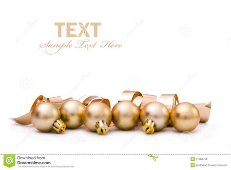 christmas gold baubles royalty free stock image image