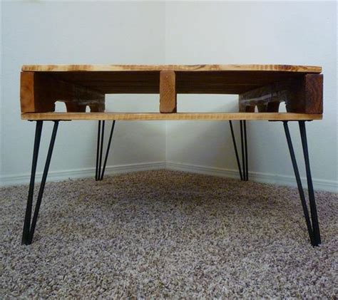 diy coffee table legs diy one coffee table with 3 rod hairpin legs pallet furniture plans