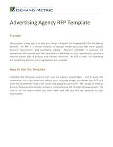 rfp presentation template advertising agency rfp template