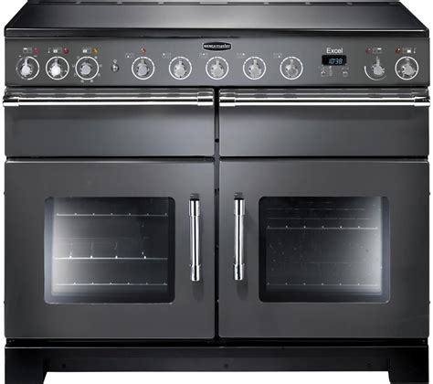 electric oven with induction hob buy rangemaster excel 110 electric induction range cooker slate chrome free delivery currys