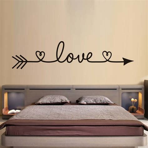dctop love arrow wall stickers romantic bedroom decals vinyl removable wallpaper home decoration