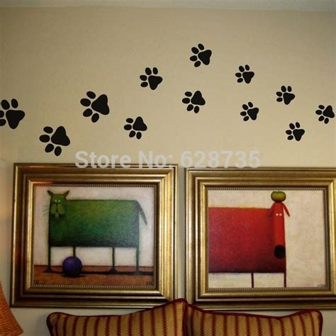 wall print stickers paw print wall stickers 20 walking paw prints wall decal home decor cat food dish room