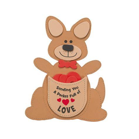 valentines day australia pocket of kangaroo craft kit