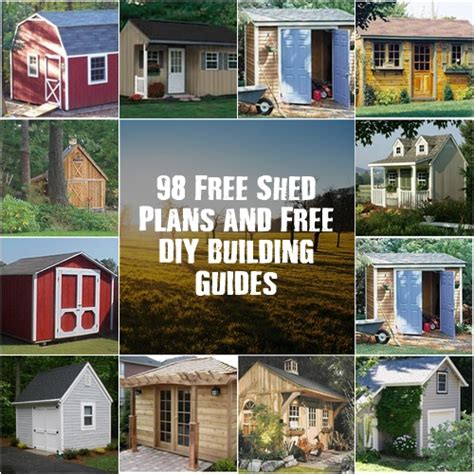 98 Free Shed Plans And Free Do It Yourself Building Guides Free Do It Yourself House Plans