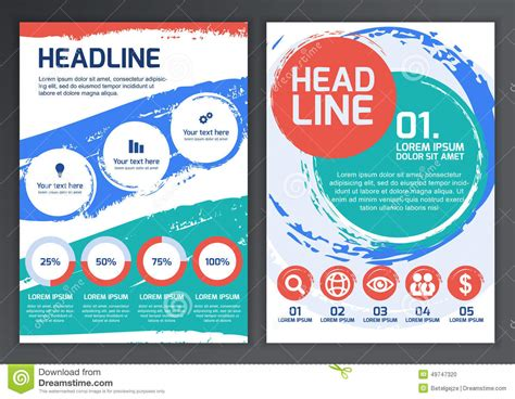 Brochure With Application by Set Of Vector Template For Brochure Flyer Poster Application Stock Vector Image 49747320