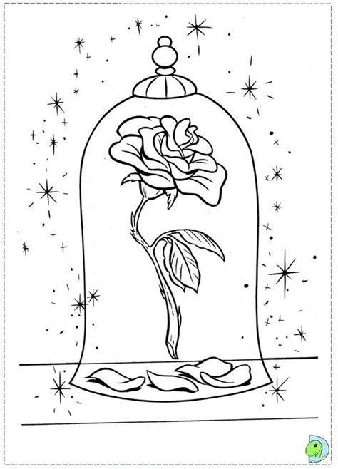coloriage la belle et la b 234 te coloring pages lineart