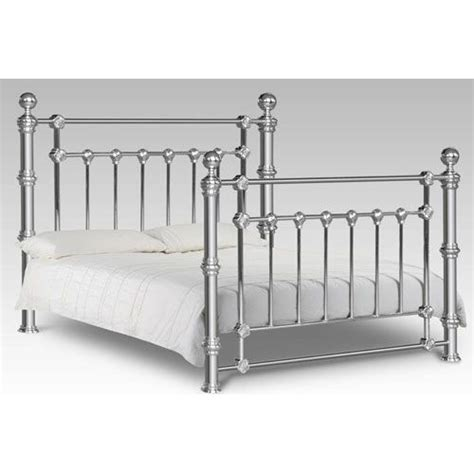 Chrome Bed Frames Magnussen Home Gabrielle White Island Bed Metal Beds Furniture And Beds