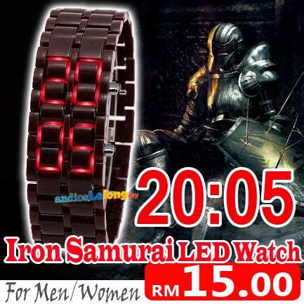 Jam Tangan Iron Samurai Led Biru lw01 iron samurai japan led jam import whole end 10 1 2015