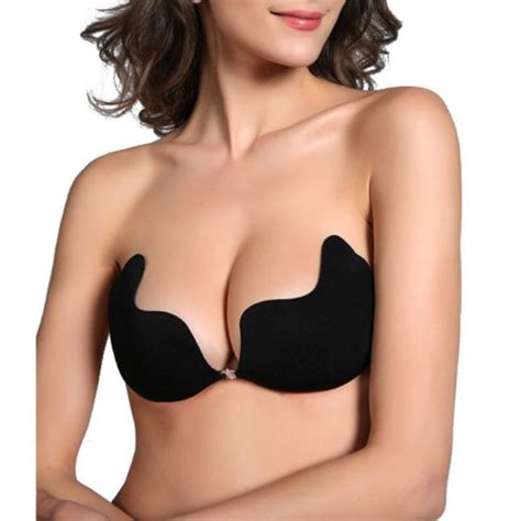 Strapless Wing Bra Push Up Bra Tempel Wing Bra 1 hde strapless backless self adhesive invisible push up wing bra breast pad black large