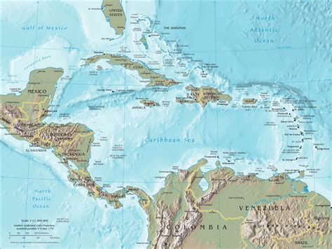 map caribbean port of call destination maps
