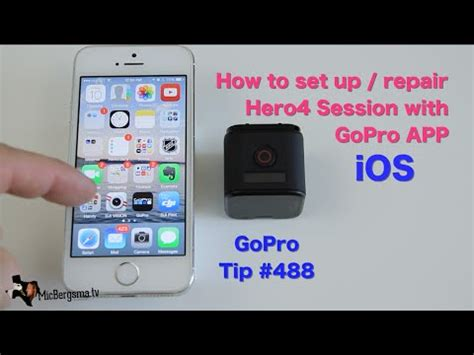 connect gopro to iphone how to set up pair hero4 session with gopro app ios gopro tip 488