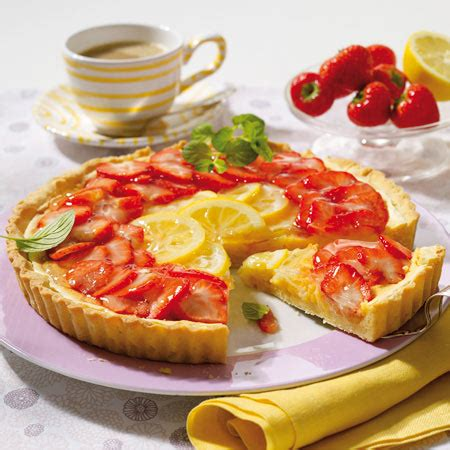 kuchen backen mit 1 ei zitronentarte mit erdbeeren so geht s lecker de