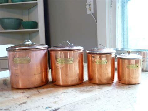 vintage copper kitchen canister set kitsch please vintage copper canister set