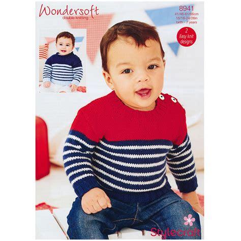 Fashion Boy Mc 9 I Bs3106 baby boy s jumper in stylecraft wondersoft dk 8941
